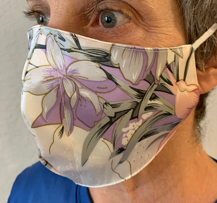 100% Silk Mask - Flower