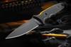 Spartan Harsey TT (Tactical Trout) Black PVD with Black Linen Micarta Handle