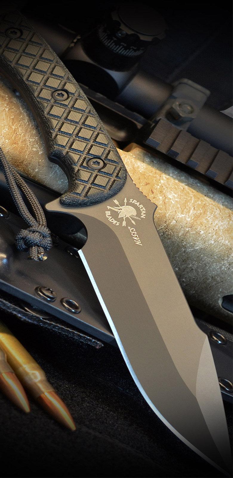 Fiber Laser Knife Engraving Spartan Blades