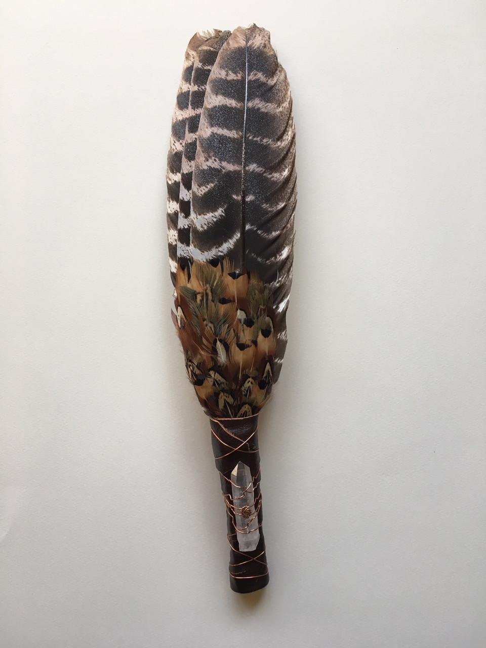 Muted Turkey Feather Fan