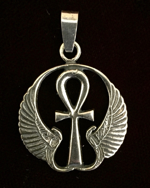 Ankh with Protective Wings of Isis