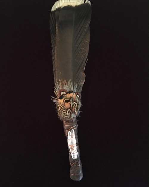 Muted Turkey Tail Feather Fan - 2 Feathers