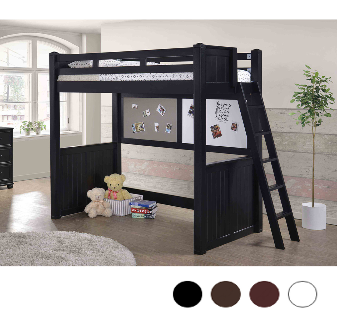 Twin Loft Bed.Molly Wood Twin Size Loft Bed