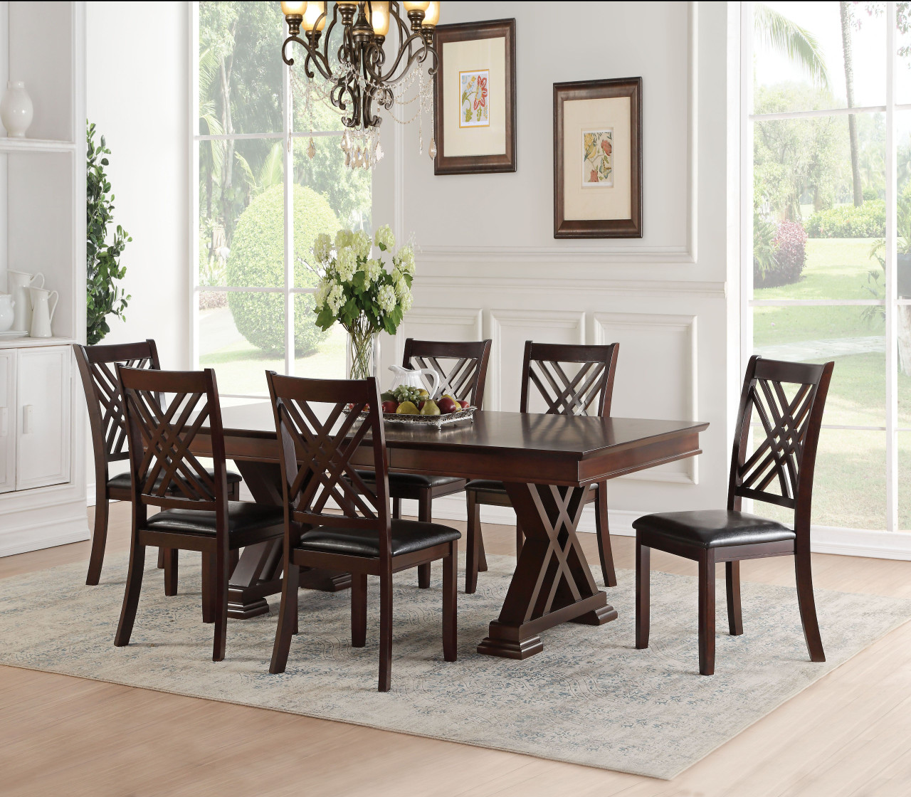 Terrific Taylor Expandable Dining Table Set In Espresso Customarchery Wood Chair Design Ideas Customarcherynet