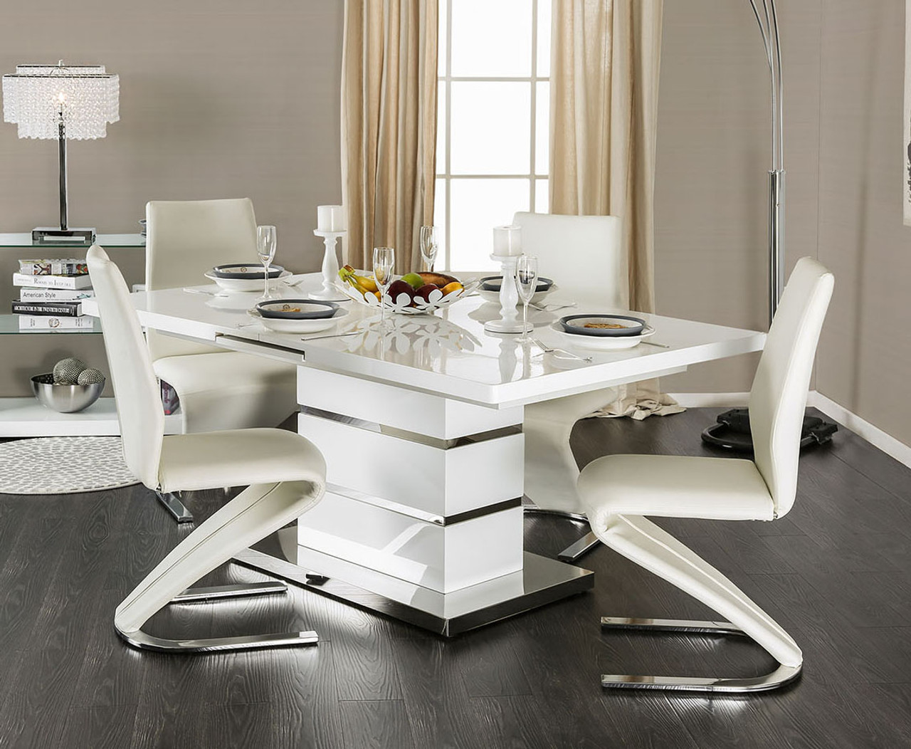 Enjoyable Veronica Extending Dining Table With Four Chairs Short Links Chair Design For Home Short Linksinfo