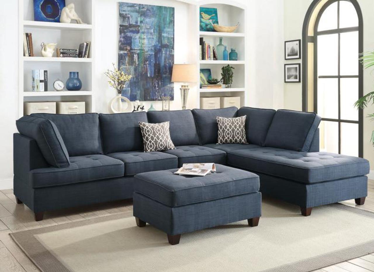 2-Pcs F6989 Sectional Sofa Set By Poundex