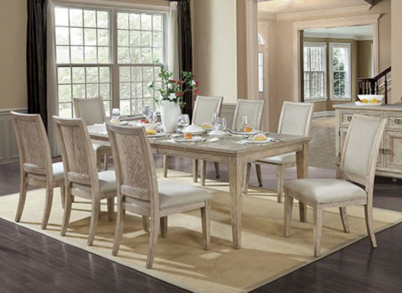 Dayton 7 Pc Natural Extendable Dining Table With 6 Chairs