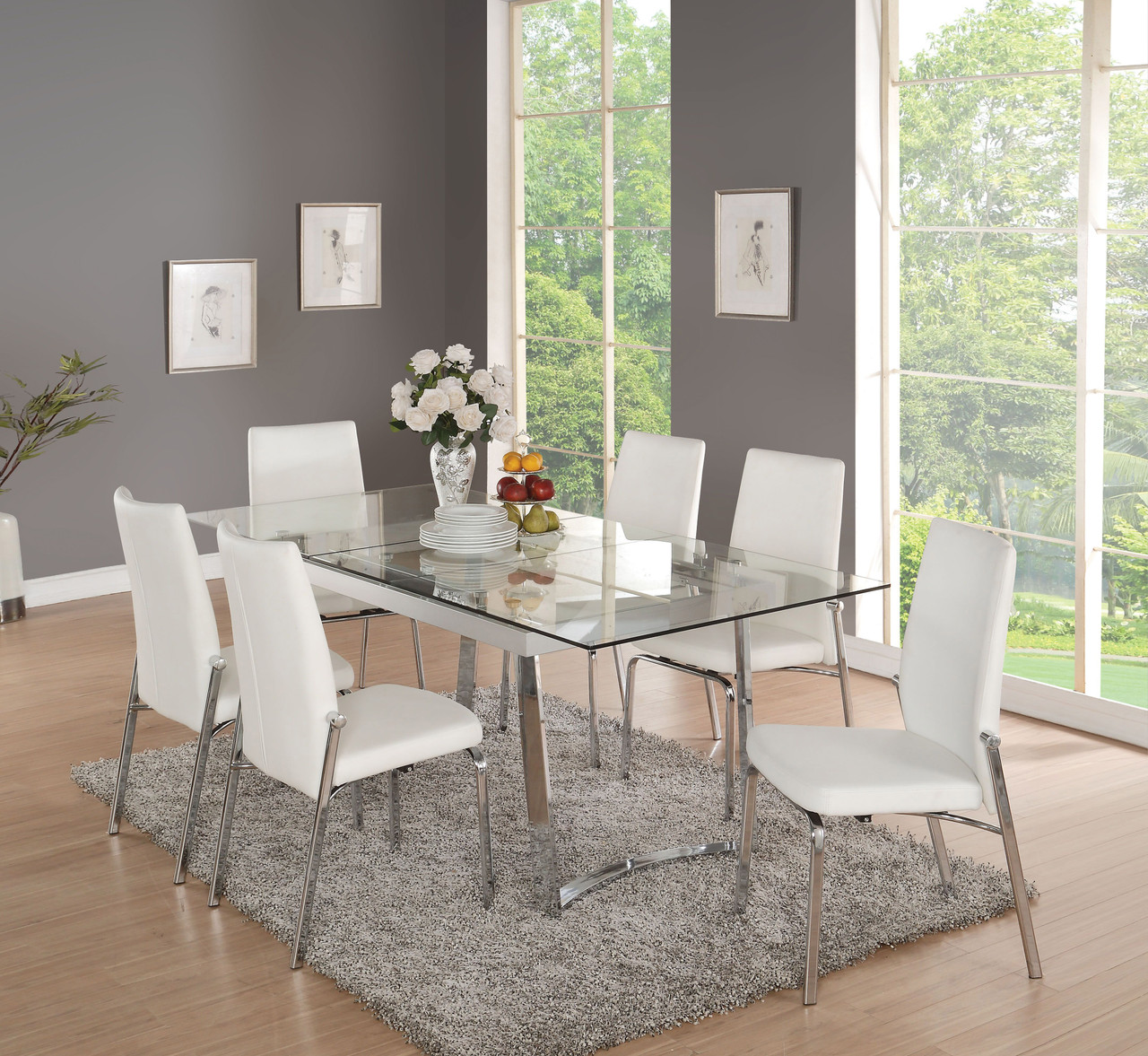Magnificent Antonia Modern Extendable Dining Table Set Squirreltailoven Fun Painted Chair Ideas Images Squirreltailovenorg