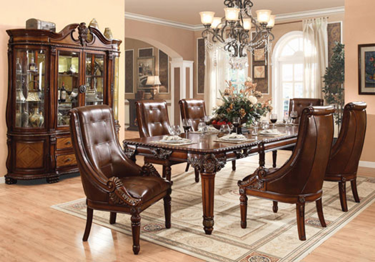 120 Strasbourg Cherry Formal Dining Table For 10