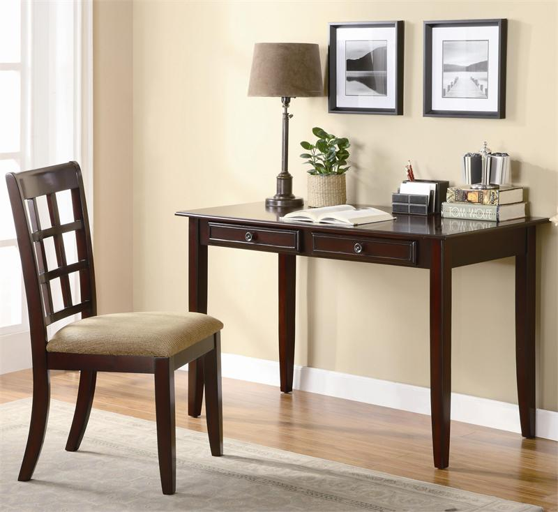 Superb 48 Cherry Wood Writing Desk W Chair Short Links Chair Design For Home Short Linksinfo