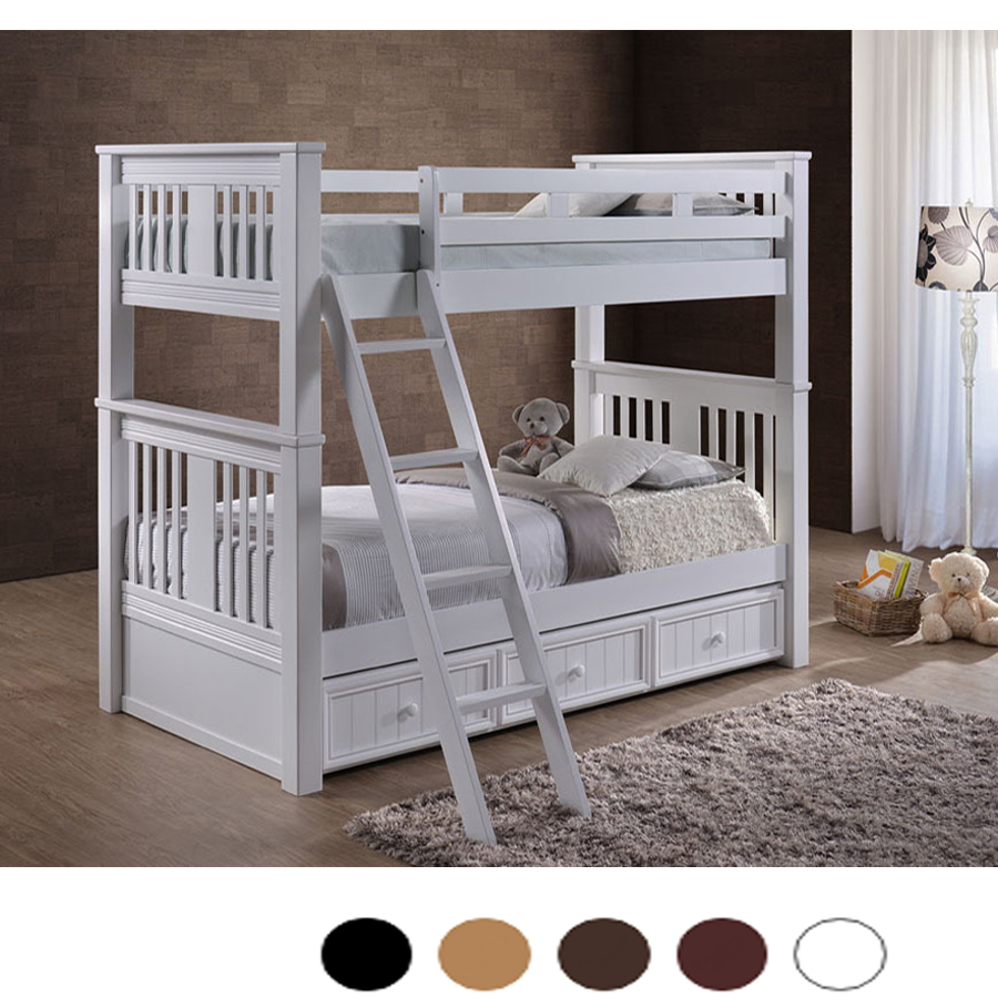 - Gary Extra Long Convertible Twin Over Twin Bunk Bed