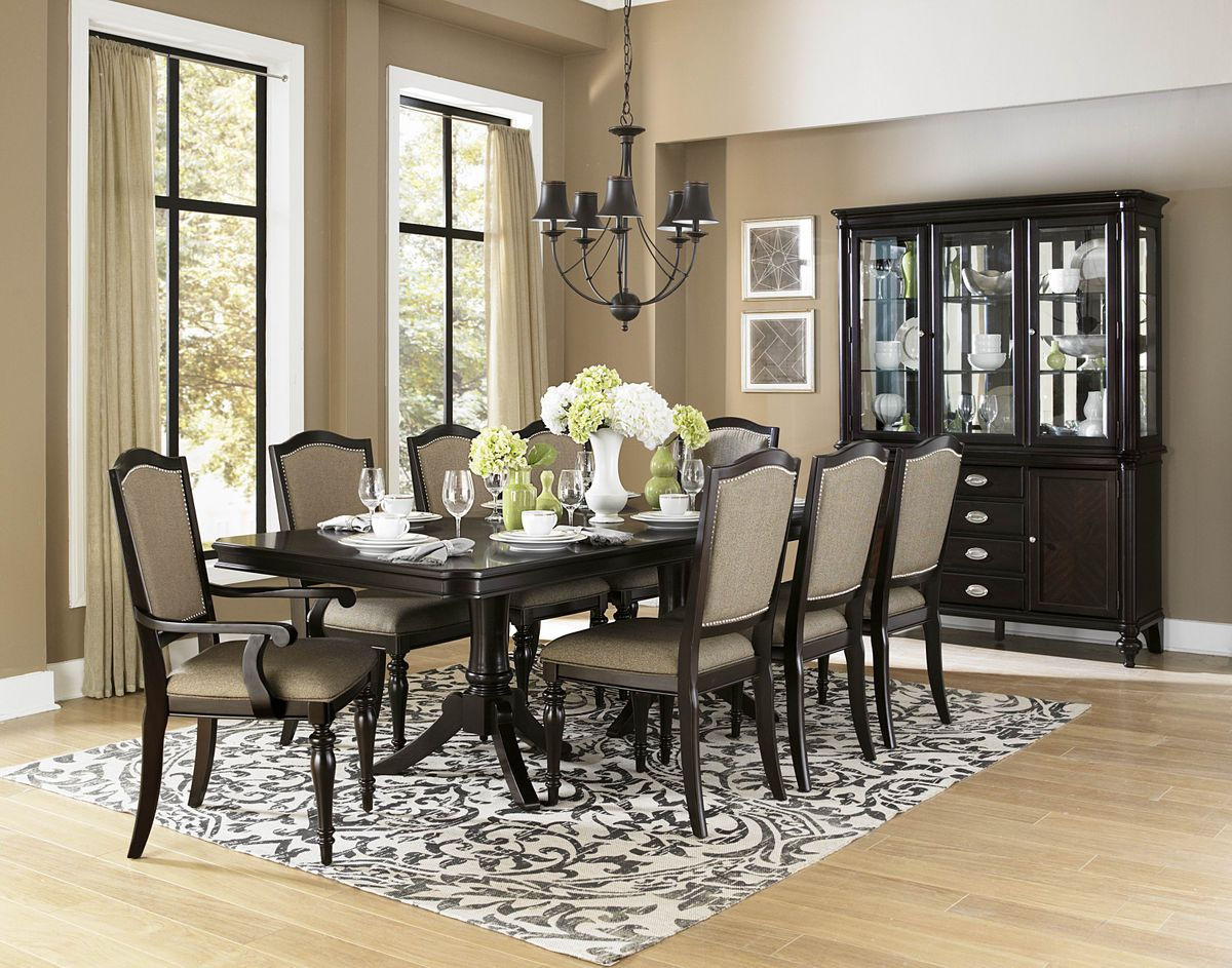 Enjoyable Barstow Espresso Transitional Dining Table Set Home Interior And Landscaping Synyenasavecom