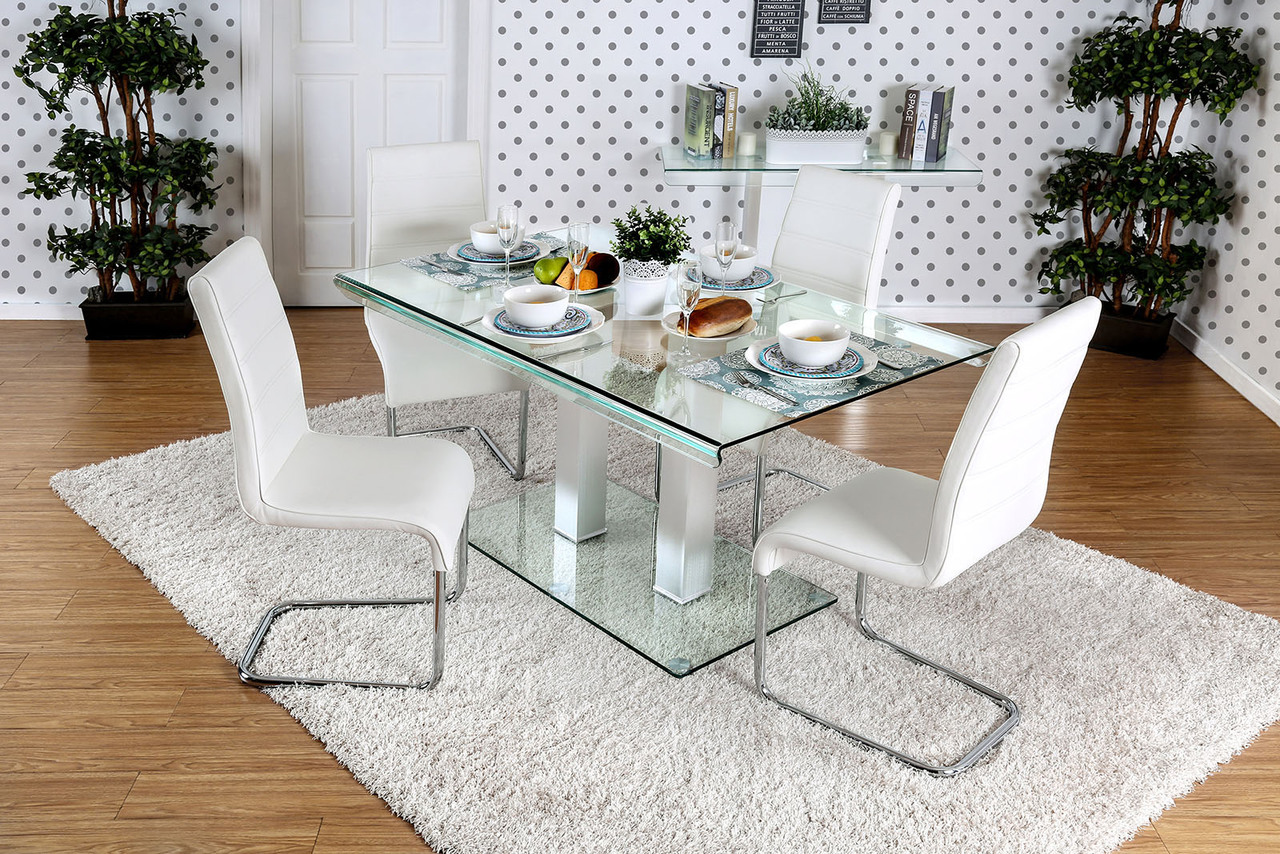 Furniture of America Rectangular Dining Table w/9 Chairs