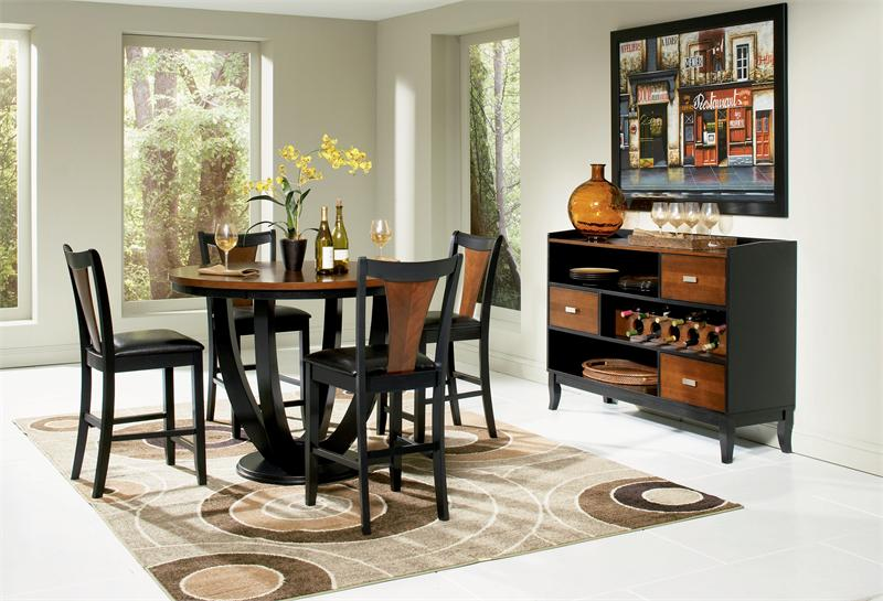 Counter High Round Table.47 Margate Contemporary Round Counter High Dining Table Set