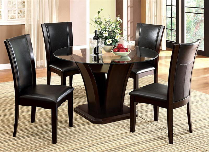 54 Manhattan Round Glass Table With Chairs