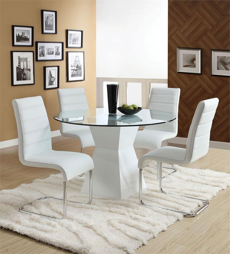 Remarkable 45 Lynelle White Round Dining Table Set Pdpeps Interior Chair Design Pdpepsorg