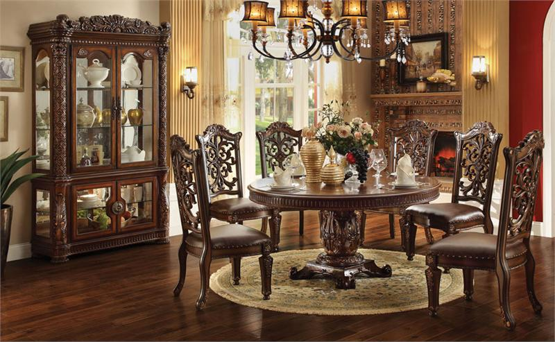 Surprising 60 Lancaster Cherry Round Pedestal Dining Table Set Caraccident5 Cool Chair Designs And Ideas Caraccident5Info