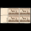 1956 3c Antelope Plate Block