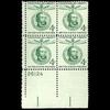 1958 4C Lajos Kossuth Plate Block