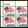 1963 5c Flag & White House Plate Block