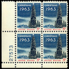1963 5c Christmas Plate Block