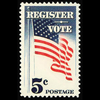 1964 5c Register and Vote Mint Single