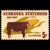 1967 5c Nebraska Statehood Mint Single