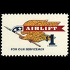 1968 $1 Airlift to Servicemen Mint Single