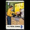 1973 8c Window Clerk Mint Single