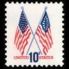 1973 10c Crossed Flags Mint Single
