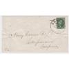 1855 10¢ Washington, Green, Type IV, Used on Cover