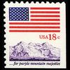 "1981 18c ""Purple Mountains"" Booklet Pane Single Mint"