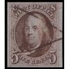 1847 5c Franklin XF Used Manuscript Cancel