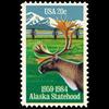 1984 20c Alaska Statehood Mint Single