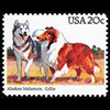 1984 20c Alaskan Malamute, Collie Mint Single