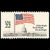 1985 22c Flag over Capitol from Bklt Pane Single Mint