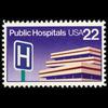 1986 22c Public Hospitals Mint Single