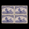 1893 4c Columbian, Block of 4, Mint