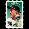 1989 25c Lou Gehrig Mint Single