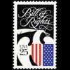 1989 25c Bill of Rights Mint Single