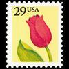 1991 29c Flower Mint Single