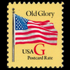 "1994 20c ""G"" Old Glory Postcard Rate (BEP, Red ""G"") Mint Single"