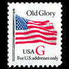 "1994 20c ""G"" Old Glory (SVS, Red ""G"") Mint Single"
