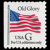 "1994 32c ""G"" Old Glory Bklt Mint Single (BEP, Black ""G"")"