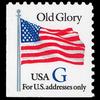"1994 32c ""G"" Old Glory Bklt Mint Single (ABN, Blue ""G"")"