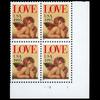 1995 32c Love Cherub Plate Block