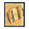 1861 30¢ Franklin Orange, FVF Used