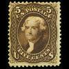 1863 5c Jefferson, Black Brown, Mint OG
