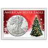 "American Silver Eagle 'Tis the Season Tree Frosty Case 2""x3"""