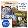 State Series Quarters Collector's Map Bundle
